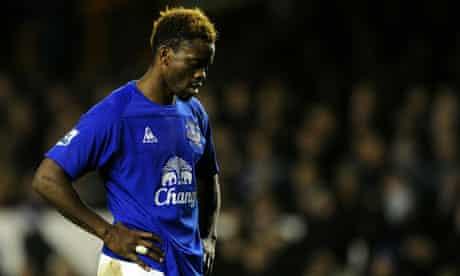 Louis Saha Everton Wigan