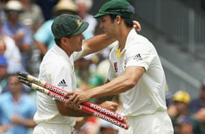 Ashes 2010: Ricky Ponting and Mitchell Johnson