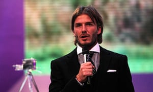 David Beckham won a lifetime achievement award at yesterday's BBC Sports Personality of the Year