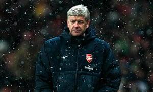 The Arsenal manager, Arsène Wenger