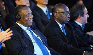 Issa Hayatou and Jack Warner