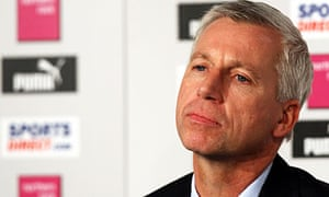 Alan Pardew faces the press for the first time as Newcastle manager.