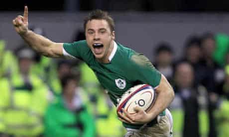 Ireland's Tommy Bowe