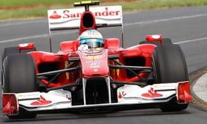 Fernando Alonso prepares for Australian grand prix