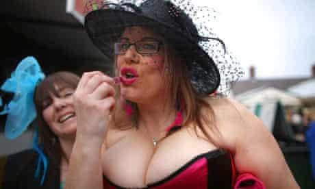 Racegoers Enjoy Ladies Day At Aintree Racecourse