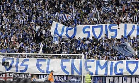 Espanyol v Barcelona supporters