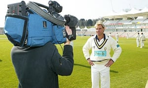 Shane Warne at a Hampshire press day at the Rose Bowl