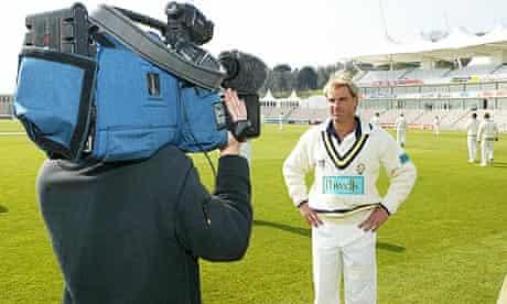 Shane Warne at a Hampshire press day at the Rose Bowl