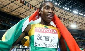 Caster Semenya has not raced since winning gold at last summer's world championships in Berlin