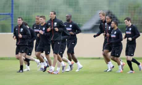 engalnd training camp in austria
