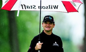 Paul Lawrie of Scotland during the second round of the Italian Open