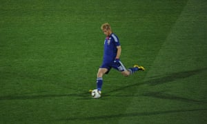 Japan's Keisuke Honda lets fly with the 35-yard free-kick that set the Asians on their way