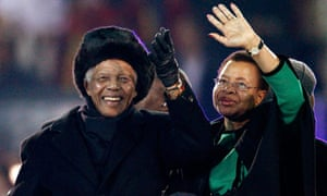World cup final: Nelson Mandela waves to the crowd