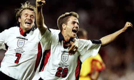 Michael Owen and David Beckham