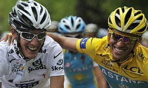 Andy Schleck and Alberto Contador