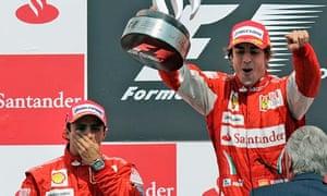 Felipe Massa, left, and Fernando Alonso