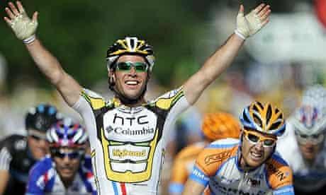 Brtitain's Mark Cavendish wins stage six