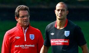 Bobby Zamora and Fabio Capello