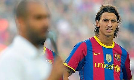 Barcelona's Swedish forward Zlatan Ibrahimovic