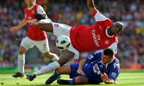 Arsenal's French midfielder Abou Diaby (