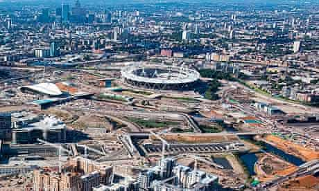 The London Olympic Park in July 2010