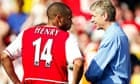Thierry Henry, left, and Arsène Wenger during their time together at Arsenal