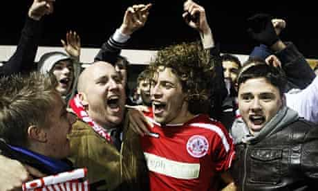 Crawley's match-winner, Sergio Torres