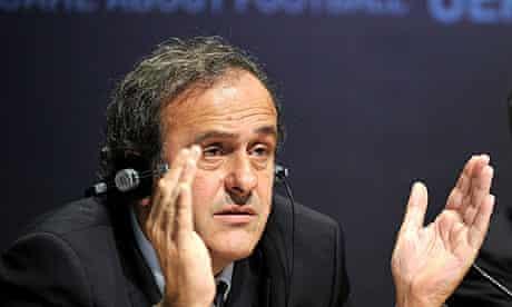 Michel Platini, the Uefa president, in Nyon