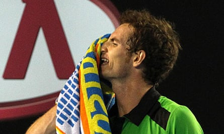 Andy Murray reacts in frustration in Melbourne