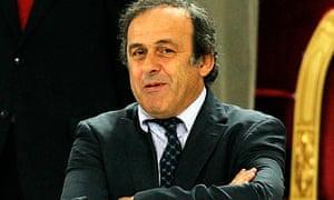 The Uefa president, Michel Platini