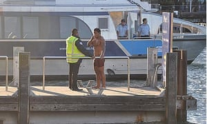 Manu Tuilagi after diving into Auckland harbour