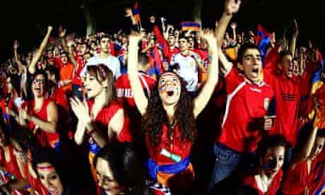 Armenia fans in Euro 2012 qualifying