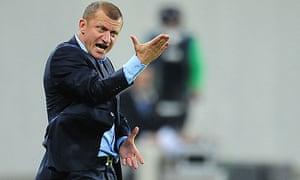 Coach Dorinel Munteanu of Otelul Galati