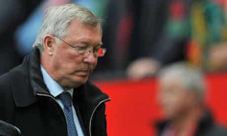 Sir Alex Ferguson shows his disappointment