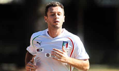 Antonio Cassano is Italy's top-scorer in qualifying for Euro2012 with four goals