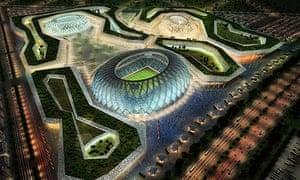An artist's impression of Qatar's Al-Wakrah stadium complex for the 2022 World Cup.