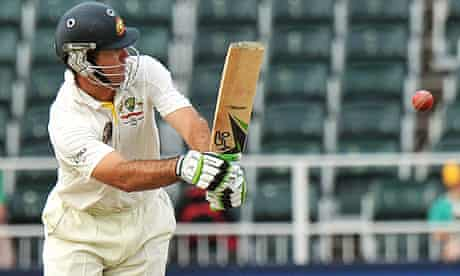 Ricky Ponting in full flow against South Africa during the second Test