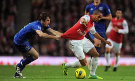 Leighton Baines. Arsenal. Everton