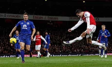 Robin Van Persie Arsenal Everton