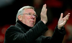Sir Alex Ferguson applauds the fans following his team's 4-1 victory over Wolves.