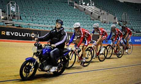 Track cycling team pursuit training
