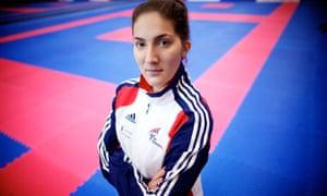 Sarah Stevenson in training.