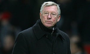 Sir Alex Ferguson takes in Manchester United's Champions League defeat by Bayern Munich in 2010