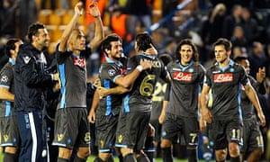 Napoli's players celebrate