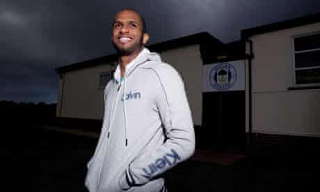 Wigan Athletic's Omani goalkeeper, Ali Al-Habsi, at the club's training ground in Standish