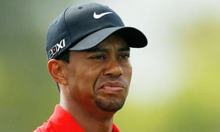 Tiger Woods spitting fine