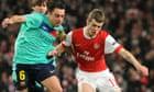 Jack Wilshere Xavi Arsenal Barcelona Champions League