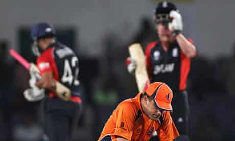 Peter Borren the Netherlands captain looks dejected after losing to England
