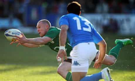 Keith Earls Italy Ireland Six Nations