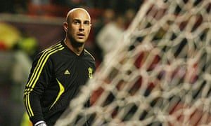 José Reina made his  300th appearance for Liverpool in the goalless draw with Braga